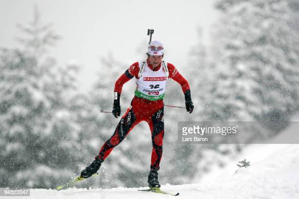 Alexander Os of Norway competes during the Men's 10 km Sprint in the IBU Biathlon World Cup on December 11 2009 in Hochfilzen Austria