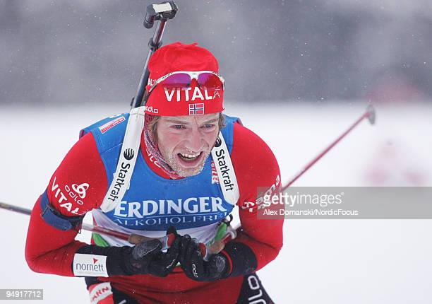 Alexander Os of Norway competes during the Men's 10km Sprint in the eon Ruhrgas IBU Biathlon World Cup on December 19 2009 in Pokljuka Slovenia