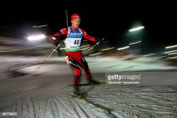 Alexander Os of Norway competes during the Men's 10km Sprint in the eon Ruhrgas IBU Biathlon World Cup on January 14 2010 in Ruhpolding Germany