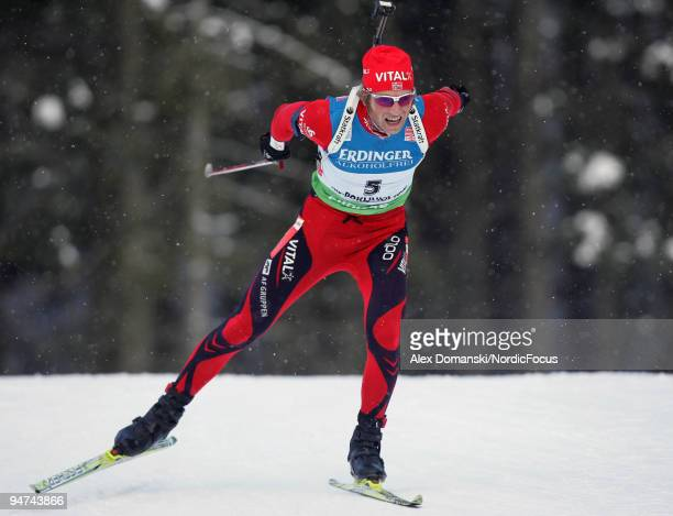 Alexander Os of Norway competes during the Men's 20km Individual in the eon Ruhrgas IBU Biathlon World Cup on December 17 2009 in Pokljuka Slovenia