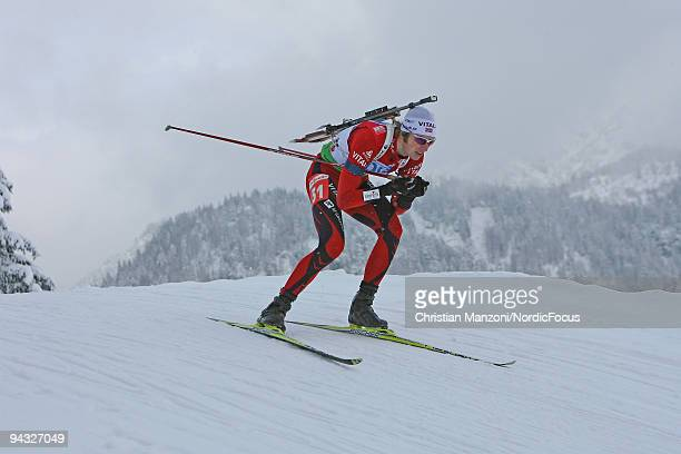 Alexander Os of Norway during the men's 125km pursuit on December 12 2009 in Hochfilzen Austria