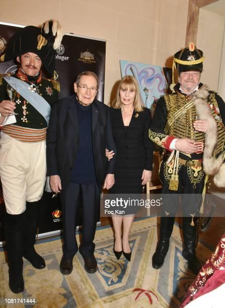 Alexander Oswald as Tsar Nikolai 1st Robert Hossein Candice Patou and hussard Peter Hoesel attend Bal Des Tsars Et Des Tsarines At Hotel Interallie...