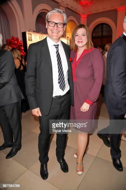 Alexander Otto and Katharina Fegebank attend the Charity Gala 'Das Herz im Zentrum' on June 4 2018 in Hamburg Germany