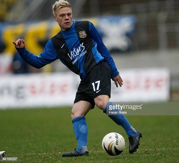 Alexander Otto of Saarbruecken plays the ball during the Regionalliga match between 1 FC Saarbruecken and Wormatia Worms at the Ludwigspark stadium...