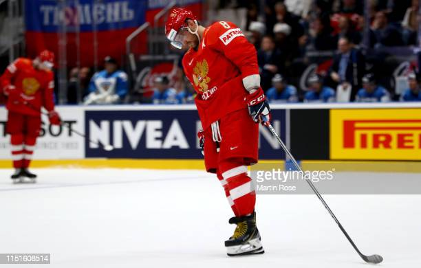 Alexander Ovechkin of Russia reacts during the 2019 IIHF Ice Hockey World Championship Slovakia semi final game between Russia and Finland at Ondrej...