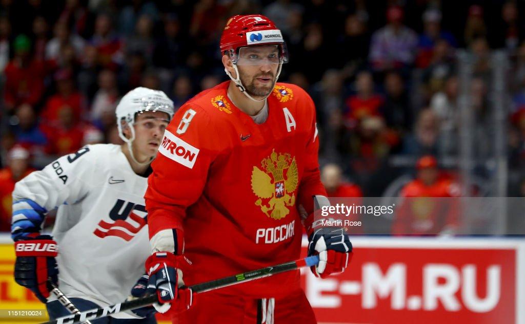 Russia v United States: Quarter Final - 2019 IIHF Ice Hockey World Championship Slovakia : News Photo
