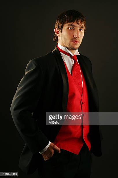 Alexander Ovechkin of the Washington Capitals poses for a portrait prior to the 2008 NHL Awards at the at the Elgin Theatre on June 12, 2008 in...