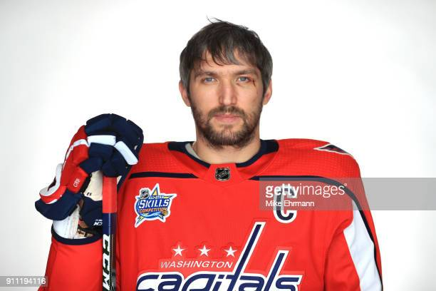 Alexander Ovechkin of the Washington Capitals poses for a portrait during the 2018 NHL AllStar at Amalie Arena on January 27 2018 in Tampa Florida