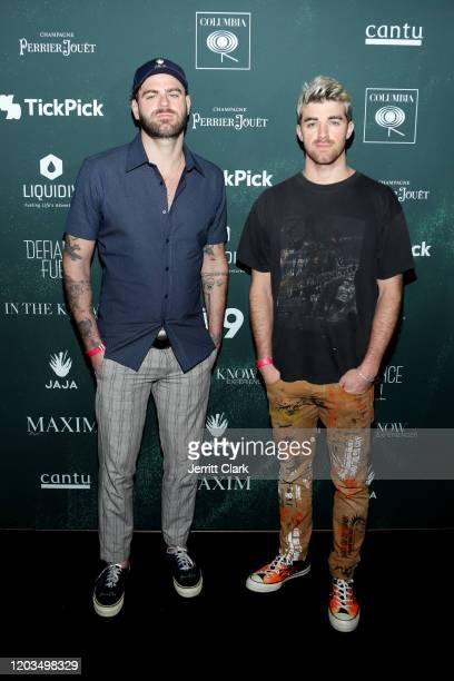 Alexander Pall and Andrew Taggart of the Chainsmokers attend the 2020 MAXIM Big Game Experience on February 01 2020 in Miami Florida