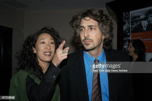 Alexander Payne and his wife actress Sandra Oh arrive for 'A Work in Progress An Evening With Alexander Payne' hosted by MoMA Film at the Gramercy...