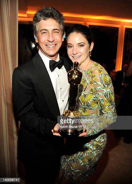 Alexander Payne and Shailene Woodley attend the 2012 Vanity Fair Oscar Party Hosted By Graydon Carter at Sunset Tower on February 26 2012 in West...