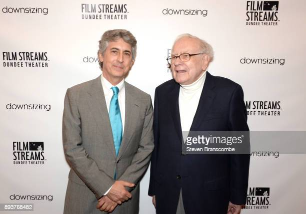 Alexander Payne and Warren Buffett attend the 'Downsizing' special screening at Dundee Theater on December 15 2017 in Omaha United States