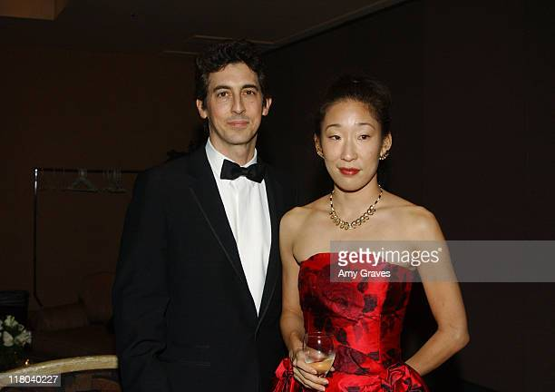 Alexander Payne and wife Sandra Oh during Palm Springs International Film Festival Awards Gala presented by Tiffany Co Press Room and Back Stage at...