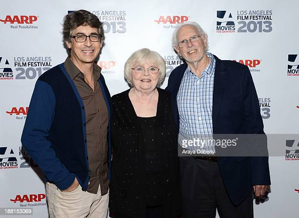 Alexander Payne June Squibb and Bruce Dern attend the screening and Q A for 'Nebraska' at the AARP's Movies for Grownups Film Festival at Regal...