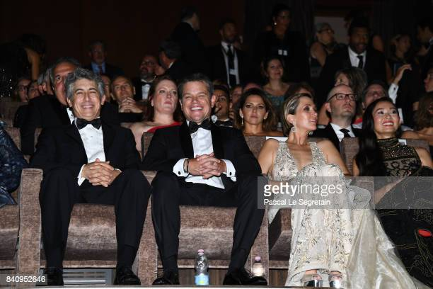 Alexander Payne Matt Damon Kristen Wiig and Hong Chau attend the 'Downsizing' screening and Opening Ceremony during the 74th Venice Film Festival at...