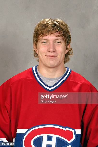 Alexander Perezhogin of the Montreal Canadiens poses for a portrait at Bell Centre on September 122005 in Montreal Canada