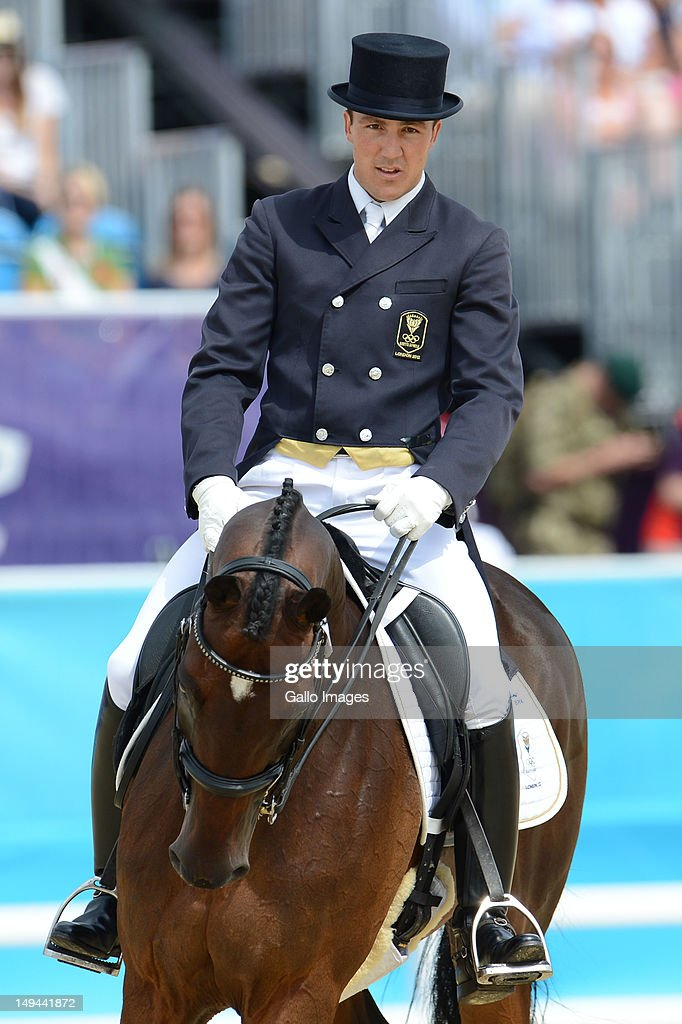 Alexander Peternell of South Africa on ASIH (WBD/Gelding/1995/Daimler) during the Equestrian Eventing Individual Dressage at Greenwich Park on July 28, 2012 in London, England.