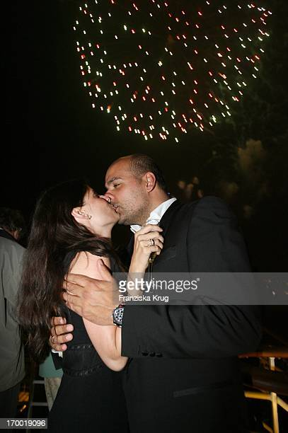 Alexander Pfitzenmeier And Wife Vanessa On The Fireworks On The 'Freedom Of The Seas' In Hamburg port 240406
