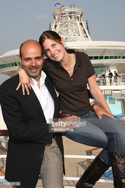 Alexander Pfitzenmeier And Wife Vanessa Pfitzenmeier On The 'Freedom Of The Seas' In the port of Hamburg on 240406