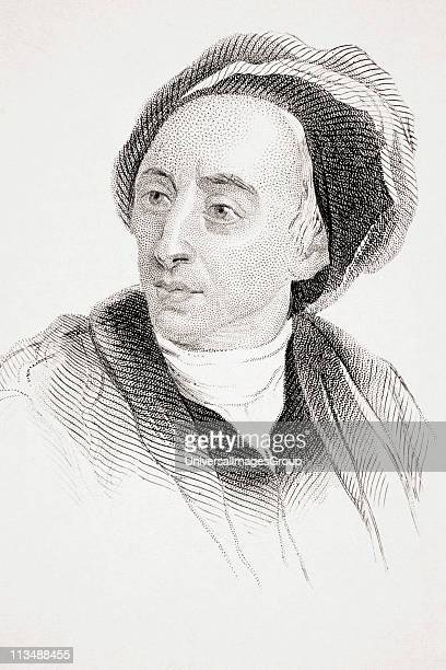 Alexander Pope 16881744 English poet and satirist From Old England's Worthies by Lord Brougham and others published London circa 1880's