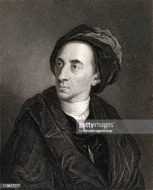 Alexander Pope 16881744 English poet and satirist From the book 'Gallery of Portraits' published London 1833