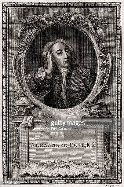 'Alexander Pope' 1774 Pope is considered one of the greatest English poets of the eighteenth century A plate from The CopperPlate Magazine or A...