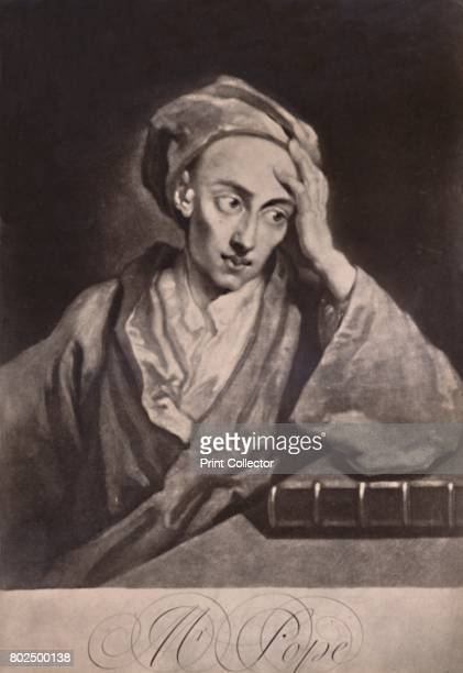 Alexander Pope English poet and satirist c1732 From A Collection of Engraved Portraits Exhibited by the Late James Anderson Rose at the Opening of...