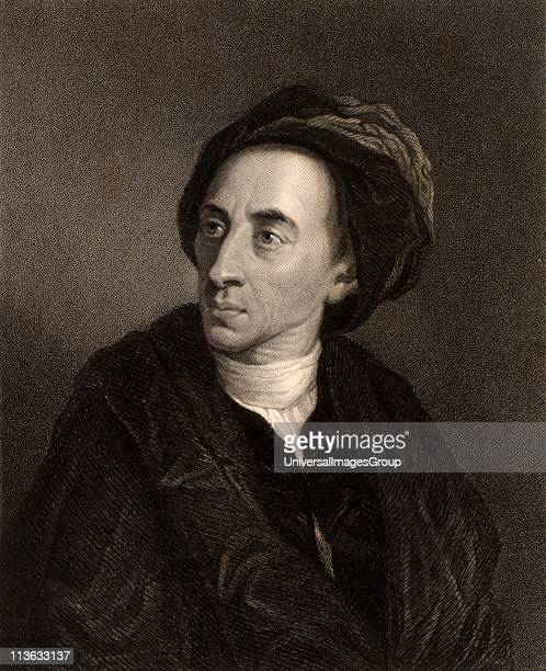 Alexander Pope English poet Engraving from The Gallery of Portraits Vol V by Charles Knight
