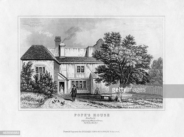 Alexander Pope's House Binfield Berkshire mid 19th century English poet Alexander Pope lived in the house in the early 18th century A print from...