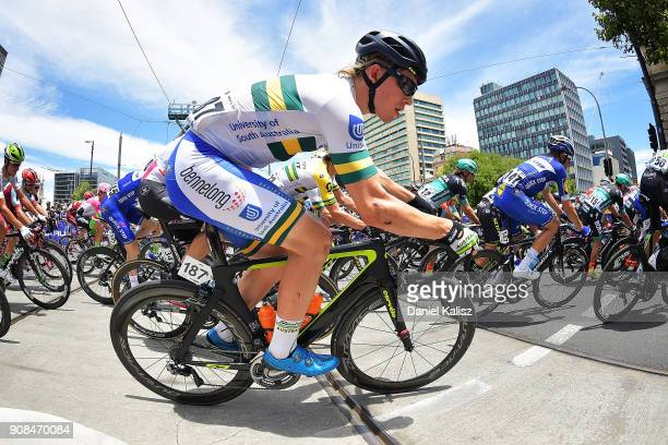Alexander Porter of Australia and UNISA Australia competes during stage six of the 2018 Tour Down Under on January 21 2018 in Adelaide Australia