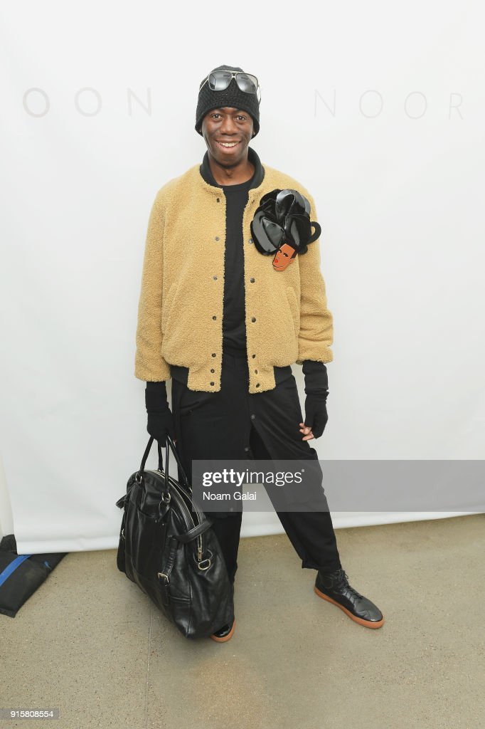 J. Alexander poses backstage for Noon By Noor during New York Fashion Week: The Shows at Gallery II at Spring Studios on February 8, 2018 in New York City.