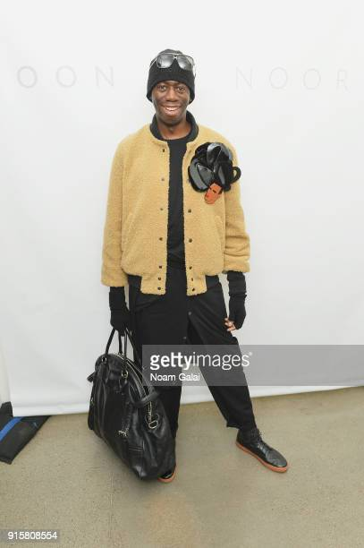 J Alexander poses backstage for Noon By Noor during New York Fashion Week The Shows at Gallery II at Spring Studios on February 8 2018 in New York...