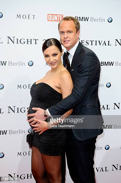 Alexander Posth and Anastasia Abasova attend the 'Festival Night By Bunte And BMW ' during the 62th Berlin International Film Festival at the...