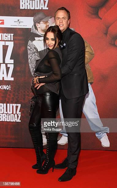 Alexander Posth und Anastasia Abasova attend the 'Blutzbruedaz' premiere at CineStar Sony Centerattend the 'Bltuzbruedaz' premiere at CineStar Sony...