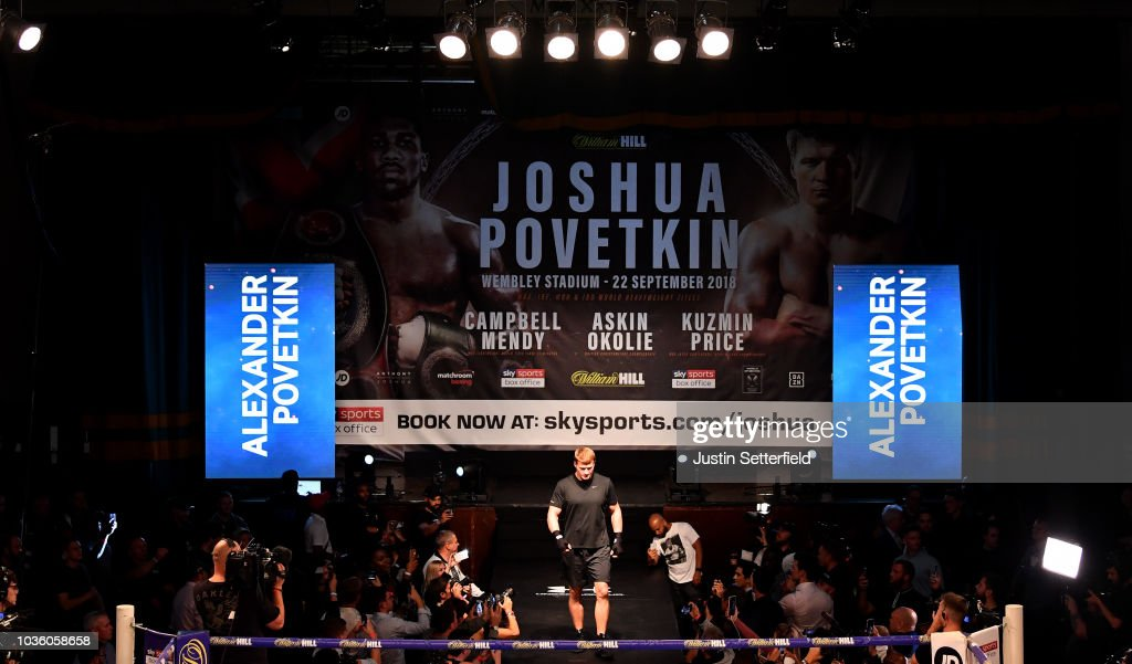 Anthony Joshua And Alexander Povetkin Media Workouts