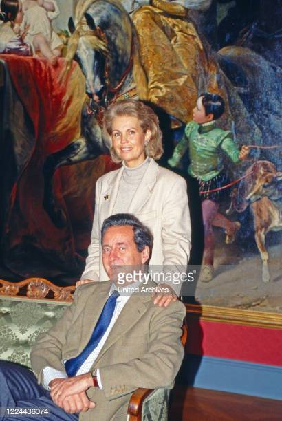 Alexander Prince of Sayn Wittgenstein Sayn and his wife Gabriela at the engagement of Filippa Princess of Sayn Wittgenstein with Count Vittorio...