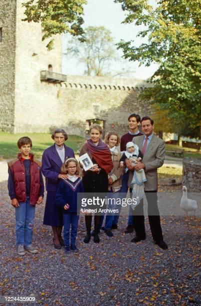 Alexander Prince of Sayn Wittgenstein Sayn with family at Sayn, Germany, 2003.
