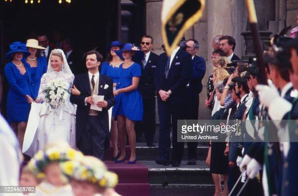 Alexander Prince of Schaumburg Lippe at his wedding with Marie Louise Lilly nee von Sayn Wittgenstein Berleburg Germany 1993