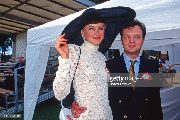 Alexander Prince of Schaumburg Lippe with his wife Marie Louise Lilly nee von Sayn Wittgenstein Berleburg Germany 1997