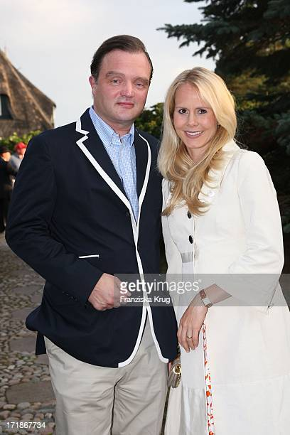 Alexander Prinz zu SchaumburgLippe and Nadja Anna Zsörks at the traditional crayfish eating by Manfred Baumann in Morsum On The Island of Sylt