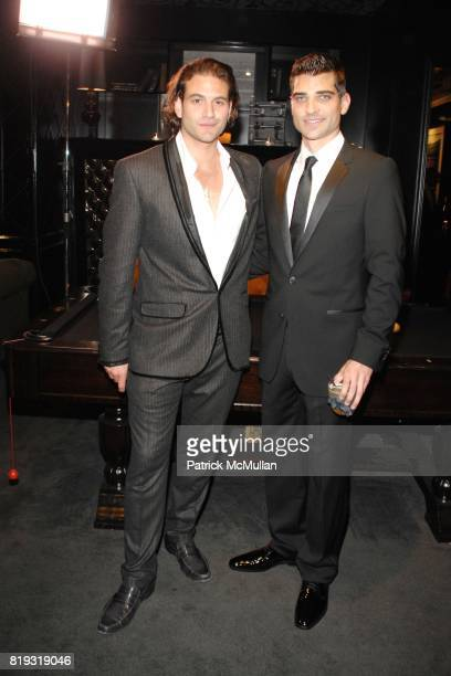 Alexander Purcell and Eric London attend The Supper Club Los Angeles Launches its Black Card The Opening of Trousdale's Private Room at Hollywood on...