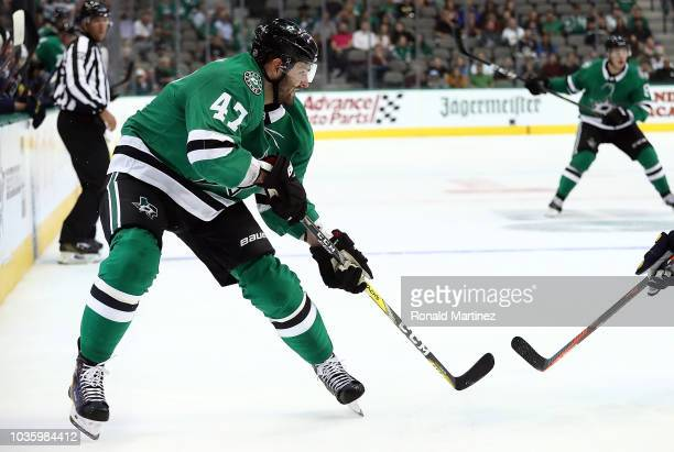 Alexander Radulov of the Dallas Stars during a preseason game at American Airlines Center on September 18 2018 in Dallas Texas