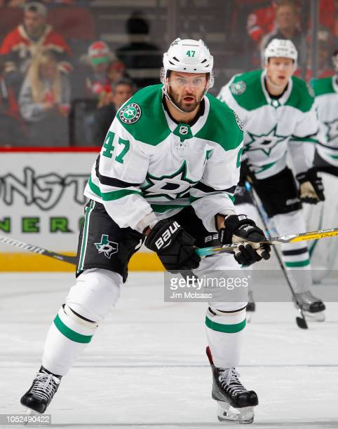 Alexander Radulov of the Dallas Stars in action against the New Jersey Devils at Prudential Center on October 16 2018 in Newark New Jersey The Devils...