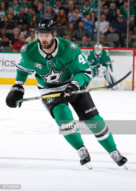 Alexander Radulov of the Dallas Stars skates against the Buffalo Sabres at the American Airlines Center on November 4 2017 in Dallas Texas