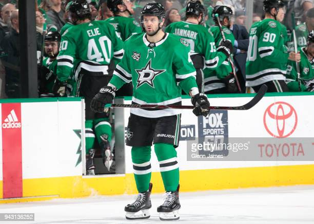 Alexander Radulov of the Dallas Stars skates against the Minnesota Wild at the American Airlines Center on March 31 2018 in Dallas Texas Alexander...