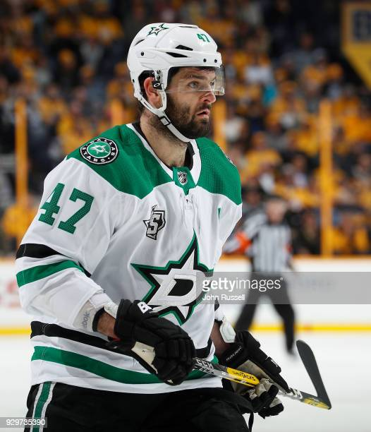 Alexander Radulov of the Dallas Stars skates against the Nashville Predators during an NHL game at Bridgestone Arena on March 6 2018 in Nashville...