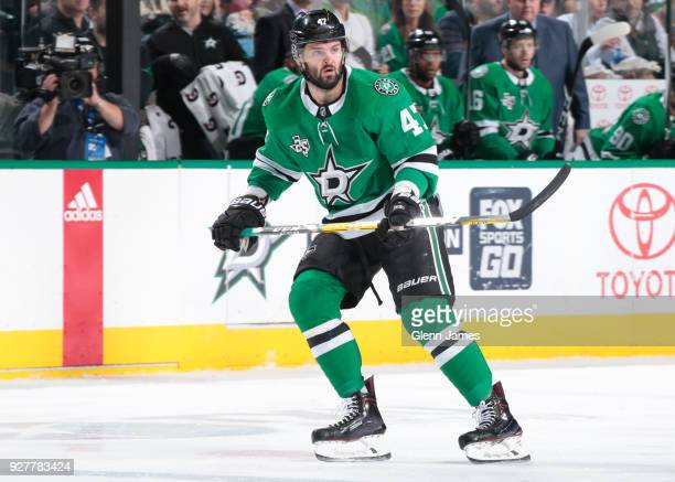 Alexander Radulov of the Dallas Stars skates against the Ottawa Senators at the American Airlines Center on March 5 2018 in Dallas Texas