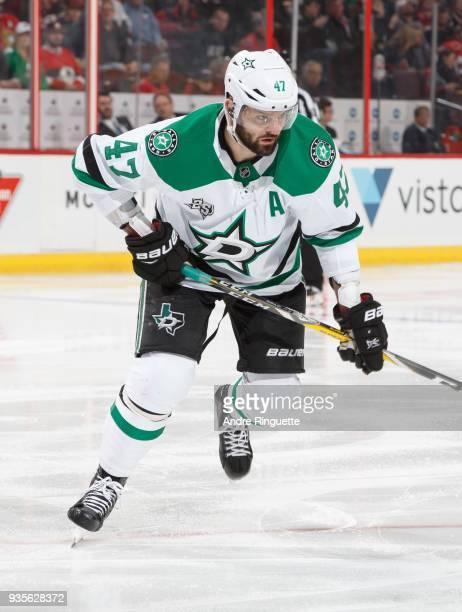 Alexander Radulov of the Dallas Stars skates against the Ottawa Senators at Canadian Tire Centre on March 16 2018 in Ottawa Ontario Canada