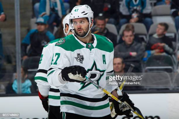 Alexander Radulov of the Dallas Stars skates against the San Jose Sharks at SAP Center on February 18 2018 in San Jose California