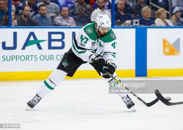 Alexander Radulov of the Dallas Stars skates against the Tampa Bay Lightning at Amalie Arena on November 16 2017 in Tampa Florida 'n